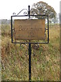 TM1671 : Benningham Hall sign by Adrian Cable