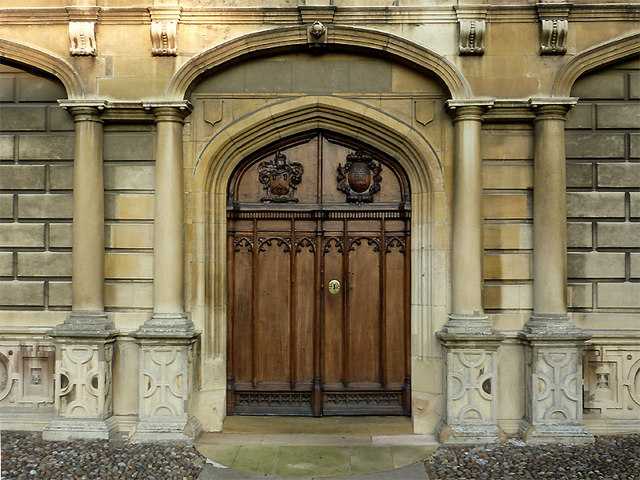 The Chapel door at Peterhouse, Cambridge