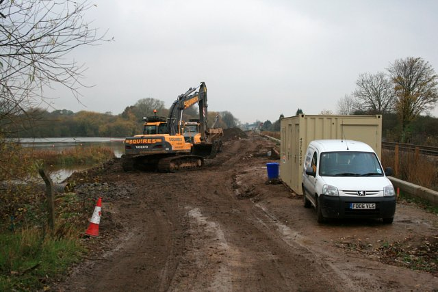 Flood alleviation works continue on a typical November day