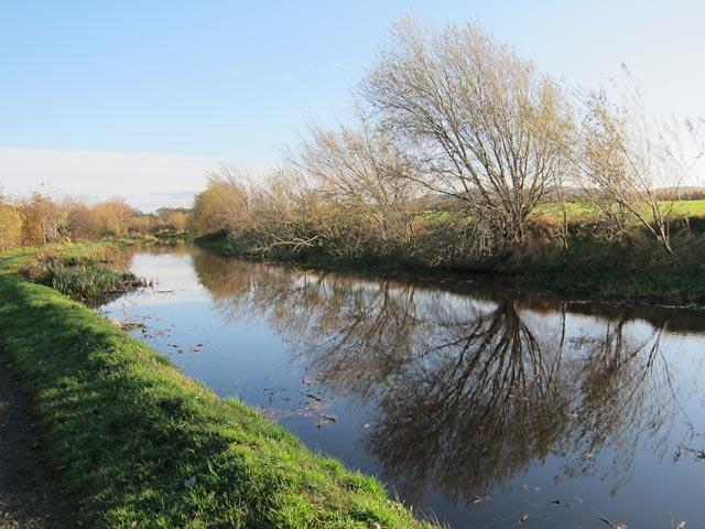 Union Canal in November sun