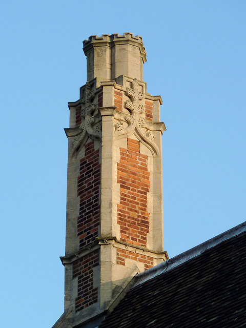 Chimney stack on the Dining Hall at Peterhouse, Cambridge
