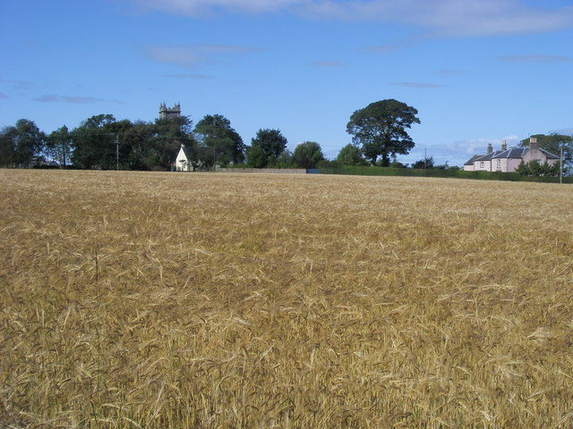 Old church tower at Kirkton of Craig