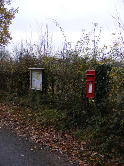 Notice Board &amp; Bush Farm Corner Postbox