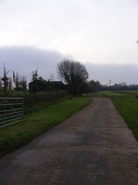 The entrance to 95th Bombardment Group Hospital Museum & entrance to Denham Hall Farm