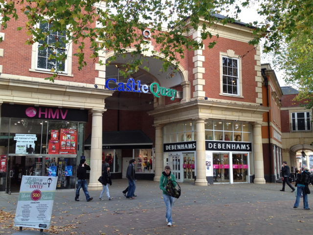 Market Place entrance, Castle Quay shopping centre
