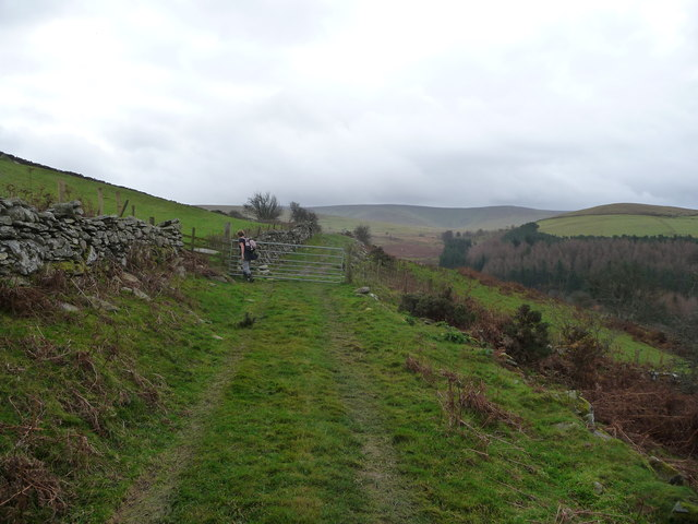 Upland track below the Berwyns