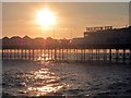 TQ3103 : Sunset over Palace Pier by Oast House Archive
