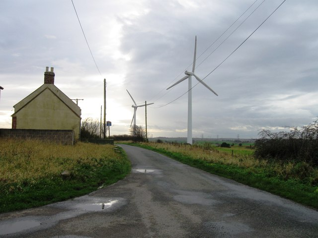 South Sharpley Farm and windfarm