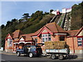 TR2235 : Cliff Lift, Folkestone by Chris Whippet