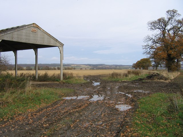 Barn at the end of a muddy track