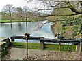 SK2083 : Sluice Gates, Bamford Mill pond by Paul Buckingham