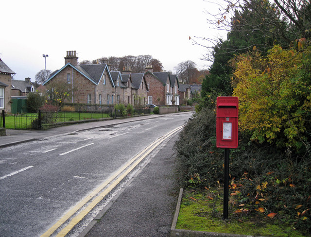 Post box and housing, Millburn Road