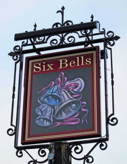 Six Bells (2) - sign, 70 Mill Street, Kidlington