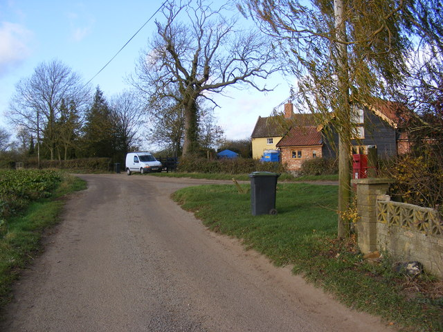 South Green Lane &amp; South Green Postbox