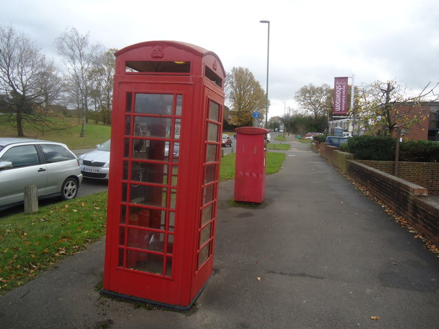 Telephone box, Redkiln Way, Horsham