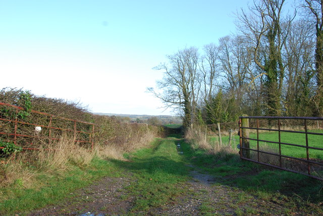Farm access Track on Brockton Lane
