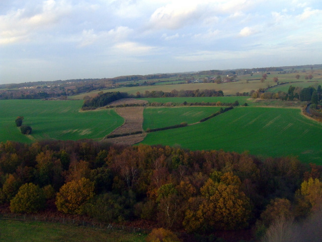 Winch Hill from the air