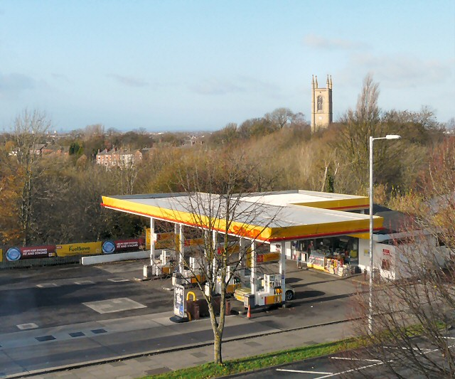 Overlooking the Shell Garage