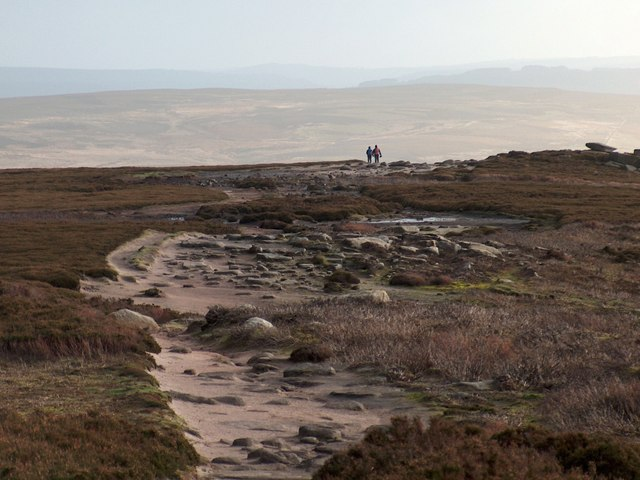 Two Sunday ramblers on Derwent Moors