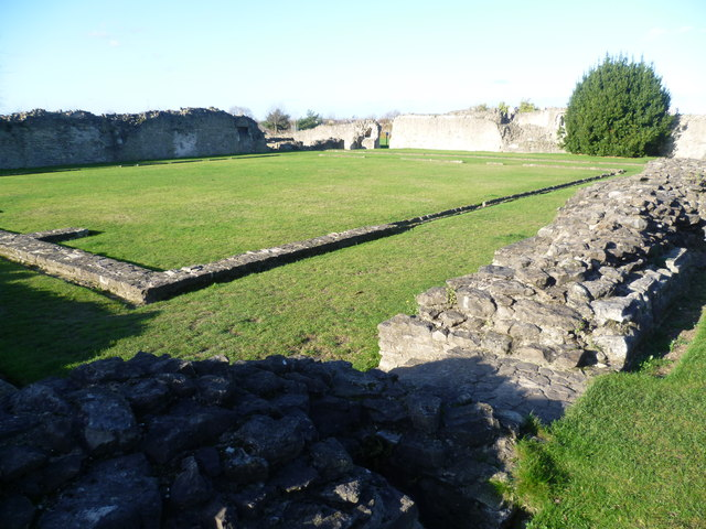 The cloisters at Lesnes Abbey