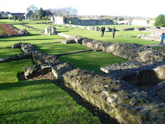 The church at Lesnes Abbey