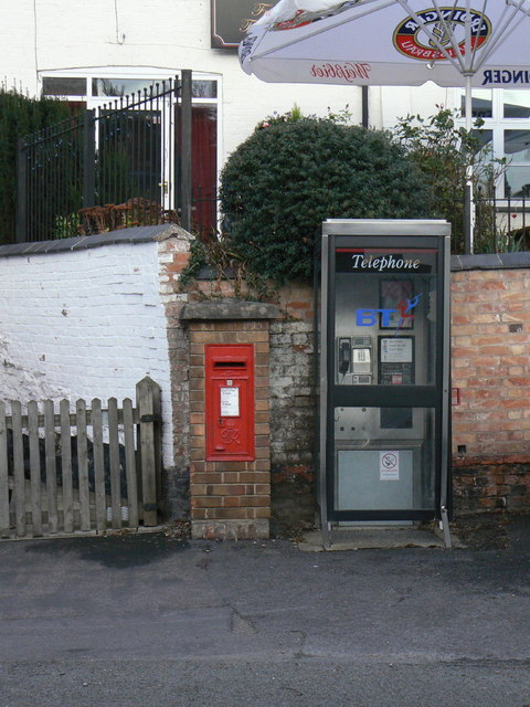 Postbox and telephone kiosk, Walton