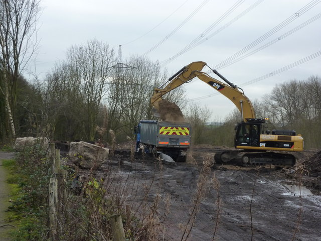 JCB and lorry