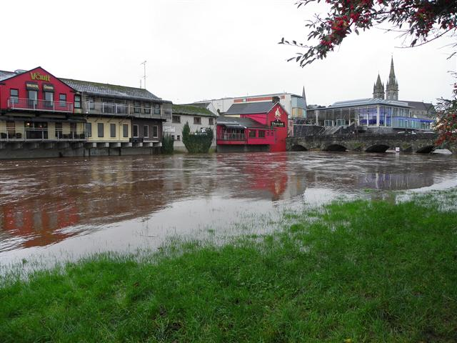 High river level, Omagh
