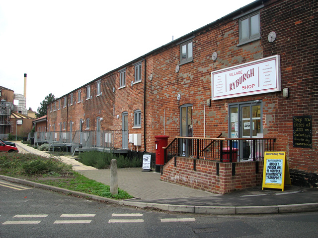 Shop, Post Office and flats, Great Ryburgh