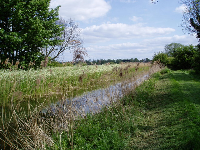 View along Reach Lode towards Reach village