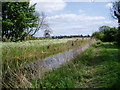 TL5666 : View along Reach Lode towards Reach village by ethics girl