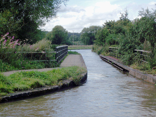 Croxton Aqueduct north-west of Middlewich, Cheshire
