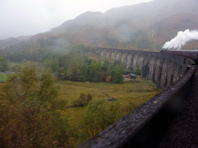 Glenfinnan Viaduct in the rain