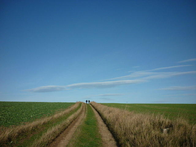Walking north towards The Sheepwalks