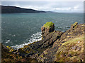 NG3355 : Rocky shore on the north west side of Greshornish by Phil Champion