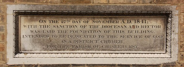 St John the Evangelist, Church Road, Sidcup - Wall memorial