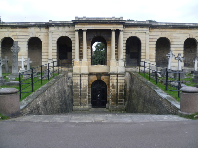 Entrance to the catacombs, Brompton Cemetery