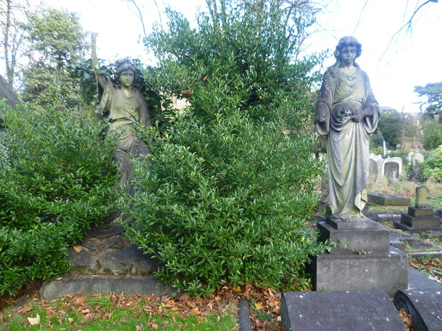Figures in Brompton Cemetery