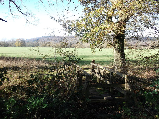 Greensand Way footbridge over River Eden