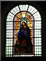 TQ3579 : St. Mary's Church, Rotherhithe - stained glass window by Mike Quinn