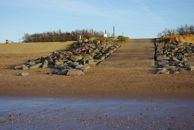 Heacham boat ramp, seaward side