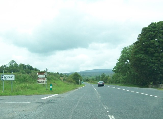 The junction of the N16 and the R286 near Barrackpark