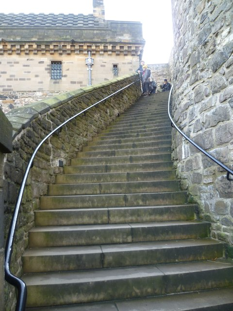 The Lang Stairs Edinburgh Castle C Kim Traynor Geograph Britain And Ireland