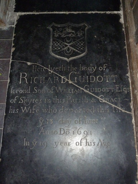 St Lawrence, Wootton St Lawrence- ledger slab (a)