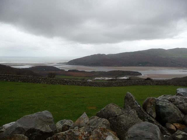 View from a dry stone wall above the Mawddach Estuary