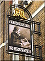 TQ3480 : Sign for Turner's Old Star, Watts Street / Meeting House Alley, E1 by Mike Quinn