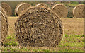 J2762 : Straw bales near Lisburn by Albert Bridge