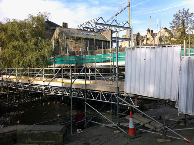 Scaffolding on the Old Bridge, Hebden Bridge