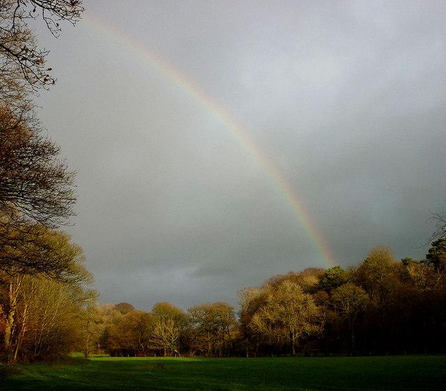 A rainbow above the Brock