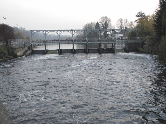 The weir at Marsh Lock,  Henley-on-Thames
